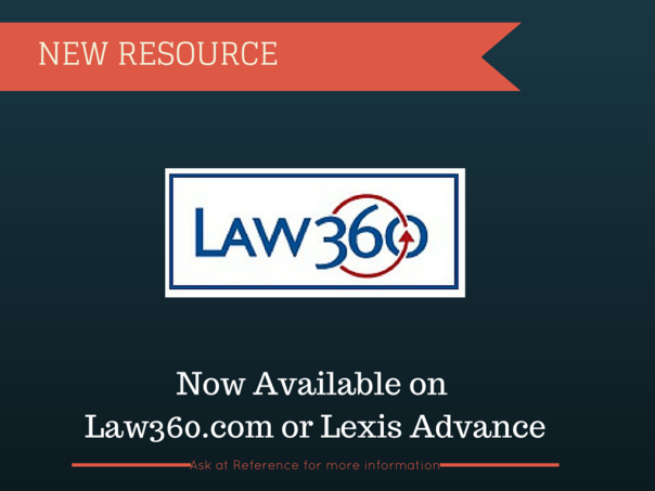 Law 360 now available