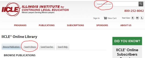 IICLE search box