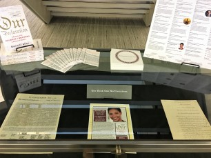 Our Declaration Display for NU One Book