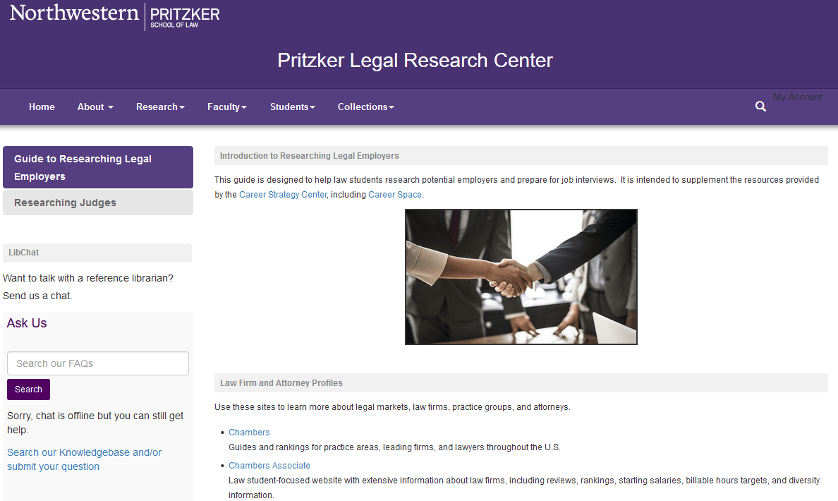 Guide to Researching Legal Employers
